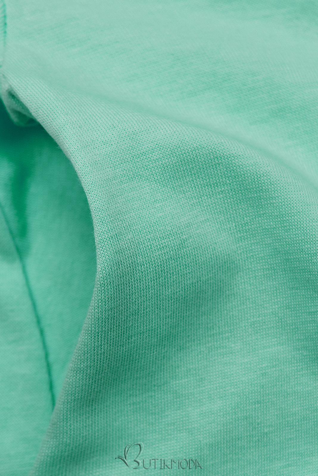Mentazöld színű ruha rátéttel SUMMER