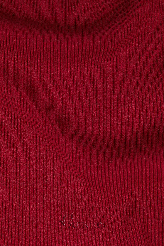 Piros színű rövid garbó