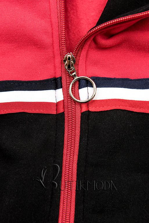 Hosszított felső - fekete és piros színű
