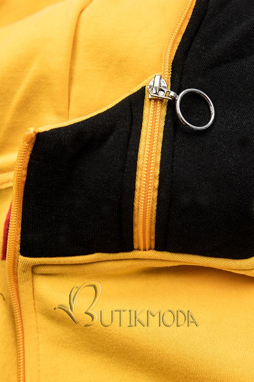 Hosszított felső - fekete és sárga színű