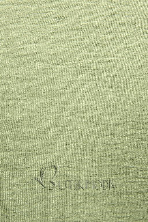Zöld színű blúz fodorral