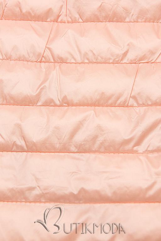 Rózsaszínű steppelt dzseki színes béléssel