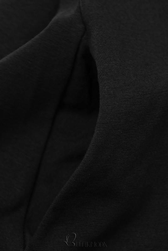 Fekete színű ruha rátéttel SUMMER