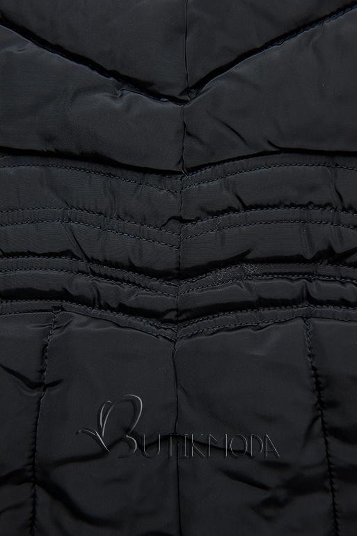 Sötétkék színű téli kabát FASHION