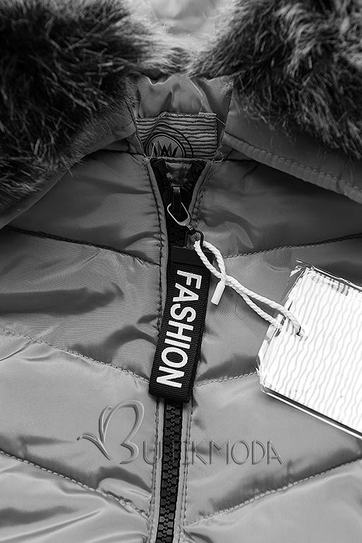 Szürke színű téli kabát FASHION