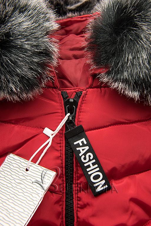 Piros színű téli kabát FASHION