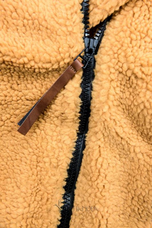 Sárga és fekete színű téli felső