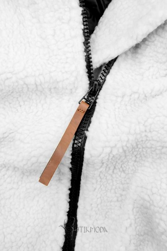 Fehér és fekete színű téli felső