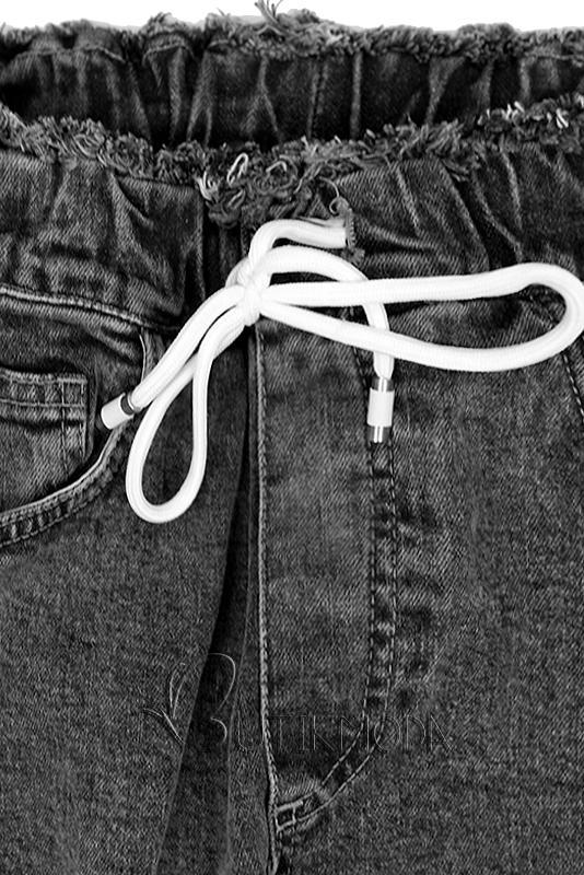 Fekete színű denim nadrág