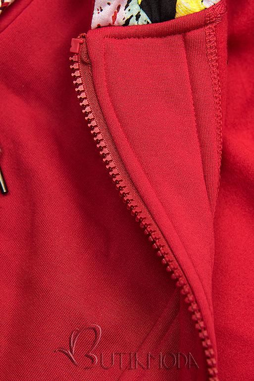 Piros színű aszimmetrikus fazonú felső