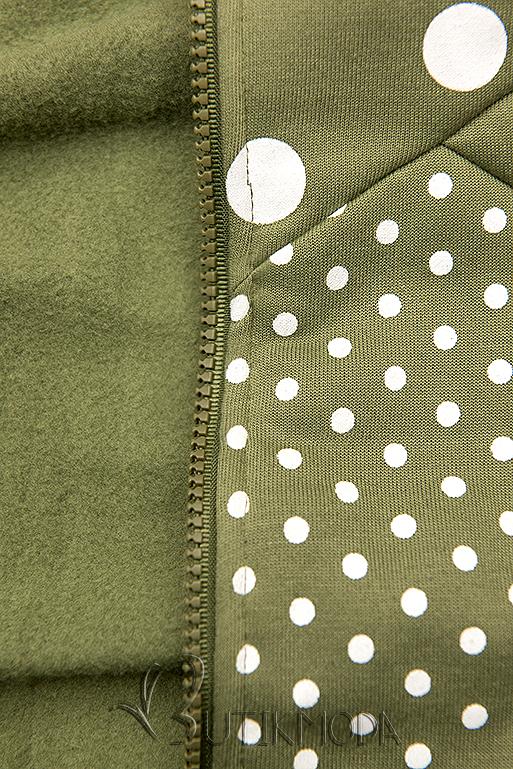 Pöttyös melegítő szett - khaki és fekete színű