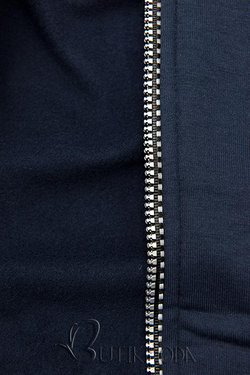 Kapucnis melegítő szett -sötétkék színű