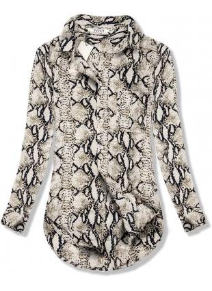 Bézs színű ing állatmintával