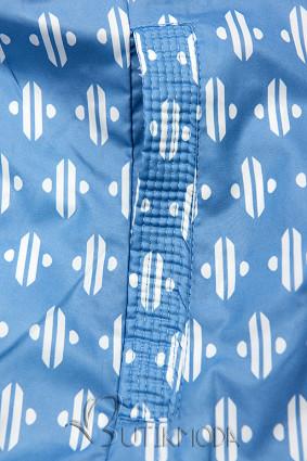 Kék színű rövid kifordítható dzseki