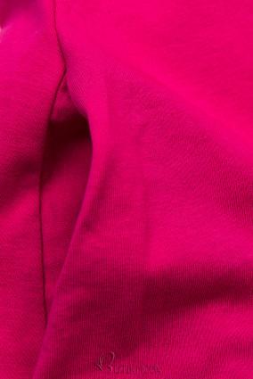 Fuksziaszínű ruha rátéttel SUMMER