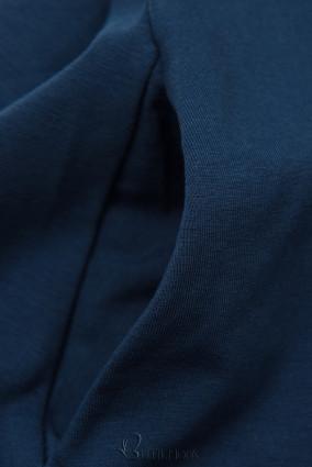 Sötétkék színű ruha rátéttel SUMMER