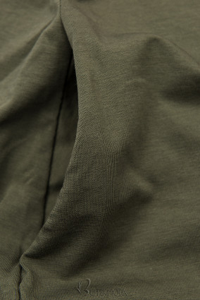 Khaki színű ruha rátéttel SUMMER