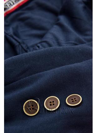 Hosszított felső kapucnival - piros és kék színű
