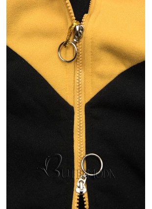 Hosszított felső - fekete, sárga és bézs színű