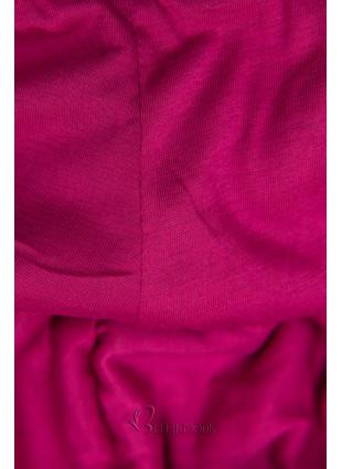 Szürke színű melegítő szett kontrasztos kapucnival