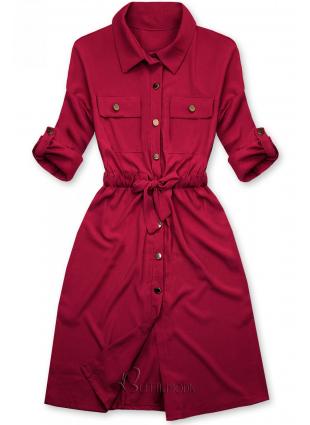 Bordó színű ingruha