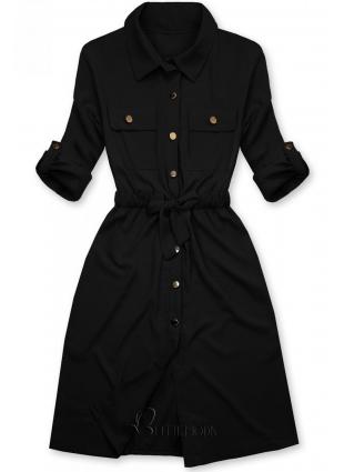 Fekete színű ingruha