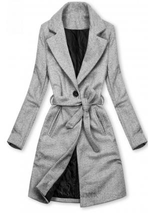 Szürke színű kabát megkötővel