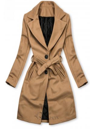 Barna színű kabát megkötővel