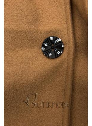 Barna színű kabát kapucnival