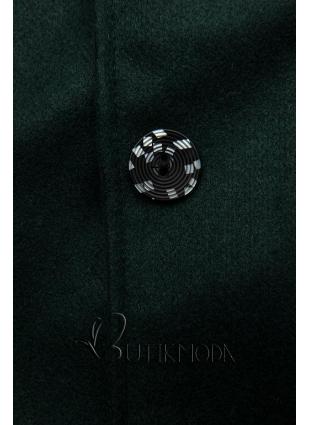 Zöld színű kabát kapucnival