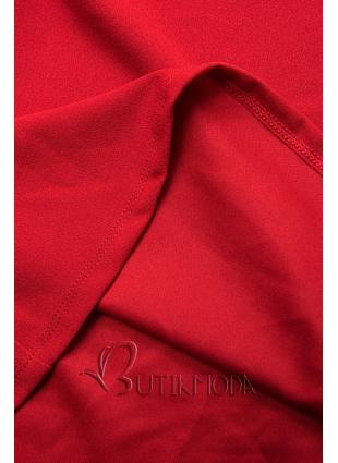 Piros színű elegáns A-vonalú ruha