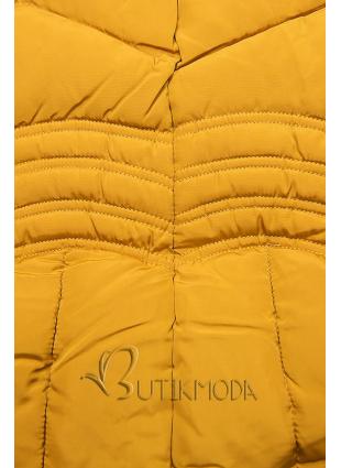Sárga színű téli kabát FASHION