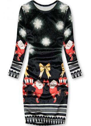 Fekete színű ruha Santa