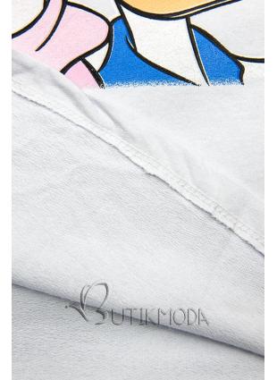 Fehér színű póló Paperina e Paperino