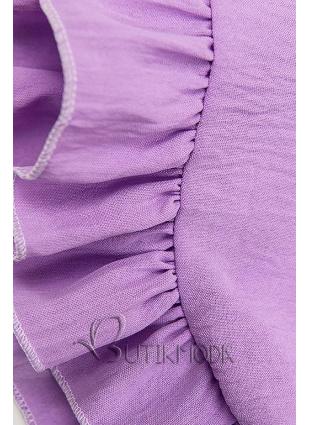 Lila színű náyri viszkóz ruha