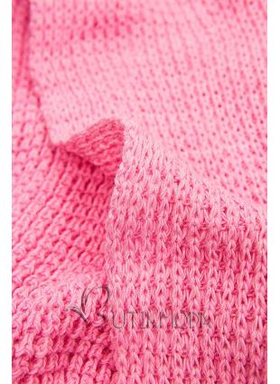 Rózsaszínű, aszimmetrikus kötött kardigán