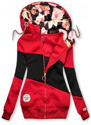 Piros és fekete színű felső csíkokkal