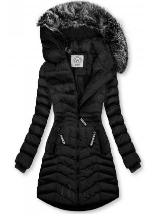 Fekete színű téli kabát FASHION