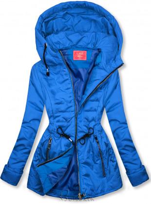 Kobaltkék színű steppelt könnyű kabát
