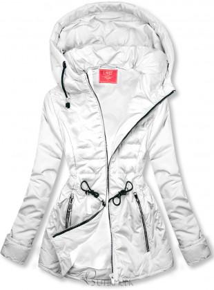 Fehér színű steppelt könnyű kabát