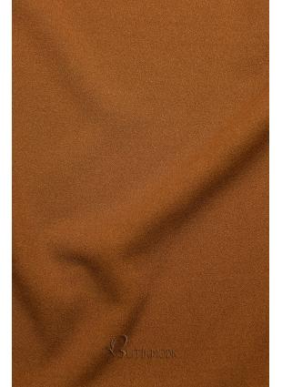 Hosszú ujjú barna színű top