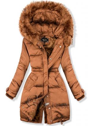 Barna színű hosszított kabát