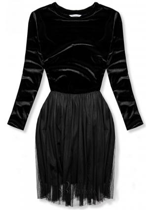 Fekete színű ruha tüll szoknyával