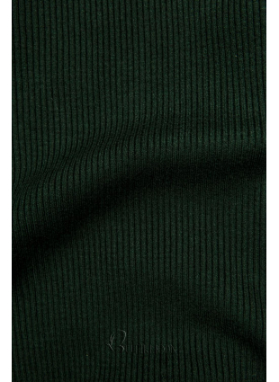 Zöld színű rövid garbó
