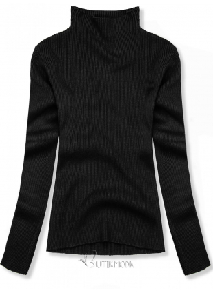 Fekete színű rövid garbó