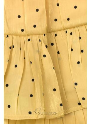 Sárga színű pöttyös szoknya