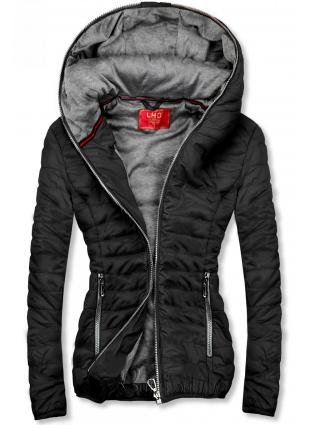 Fekete színű sportos dzseki