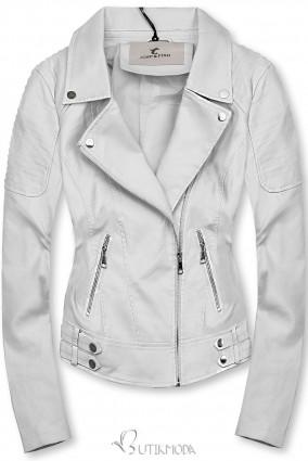 Fehér színű motoros dzseki