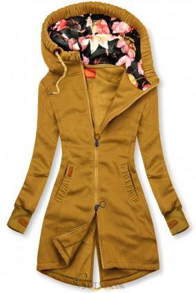Mustársárga színű, LHD márkájú hosszított felső