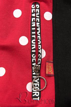 Pöttyös felső - piros és fekete színű